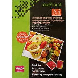 InkJet Photopapier doppelseitig A4 20Blatt 180g glänzend