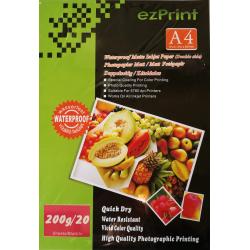 InkJet Photopapier doppelseitig A4 20Blatt 200g matt