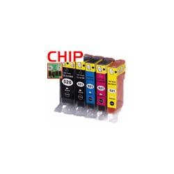 PGI-520BK/CLI-521BKCMY+GRAU 6er Bundle mit CHIP kompatibel
