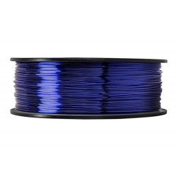 3D filament 1,75 mm TPU rubber gummi transparent blau 800g