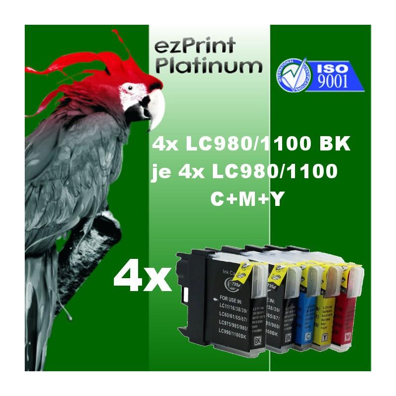 16x Druckerpatronen kompatibel für Brother LC980 LC1100 XL set Multipack
