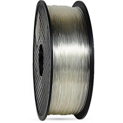 3D filament 1,75 mm TPU+TPE rubber gummi transparent 1000g