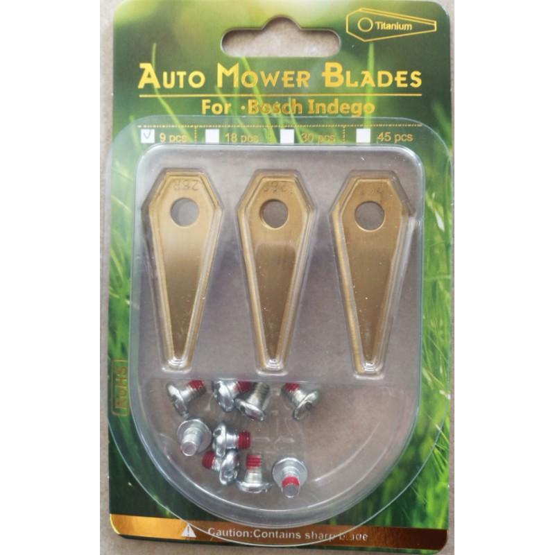 nano 30Stk Titan Ersatzklingen Ersatzmesser für Bosch Indego Modelle
