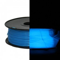 3D Filament PLA 1,75 mm Nachtleuchtend blau 1000g 1kg
