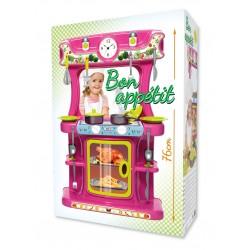 Spielküche rosa 76cm 19-tlg. Zubehör