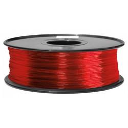 3D filament 1,75 mm TPU rubber gummi transparent rot 800g