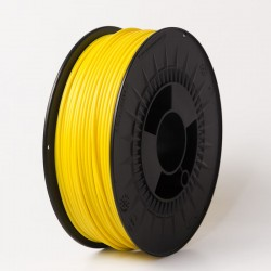 3D filament 1,75 mm TPU+TPE rubber gummi gelb 1000g 1kg