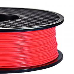 3D Filament ABS 1,75 mm Nachtleuchtend rot 1000g 1kg