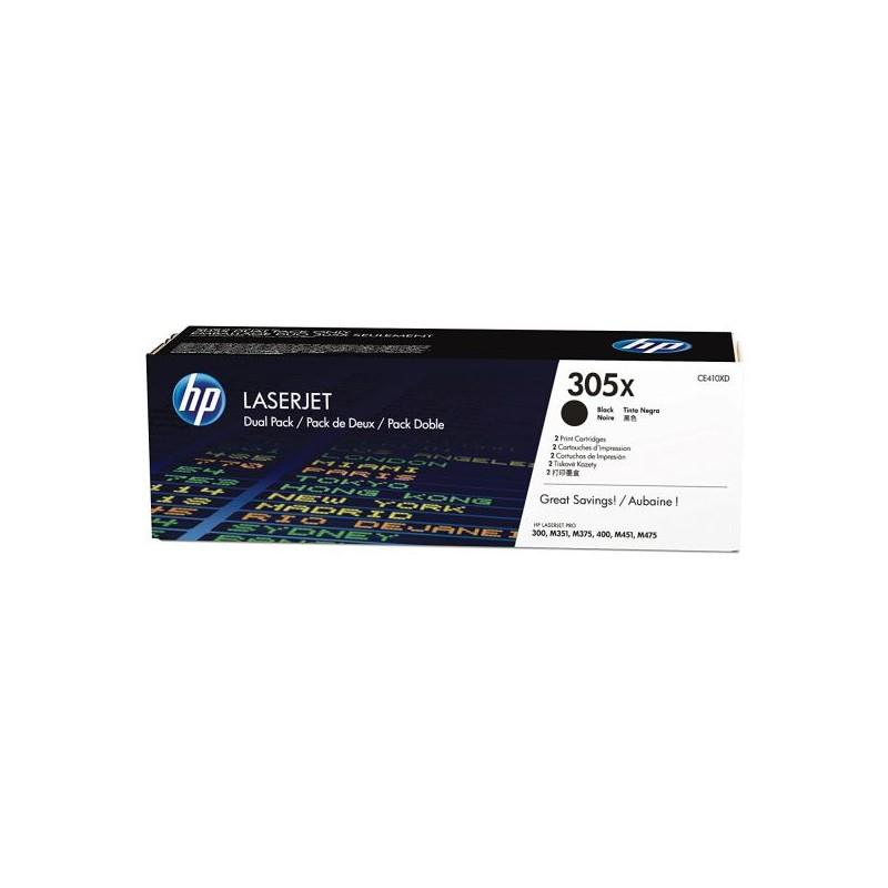 HP Toner 305X schwarz, 2er-Pack (CE410XD)