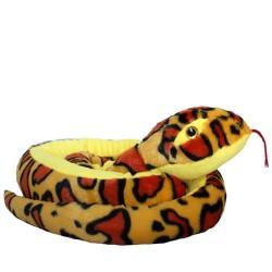 Plüschtier Schlange Anakonda Boa gelb super weich 200cm XXL