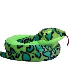 Plüschtier Schlange Anakonda Boa grün super weich 100cm XL