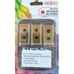 nano 30Stk Titan Ersatzklingen Ersatzmesser für Worx Landroid Modelle
