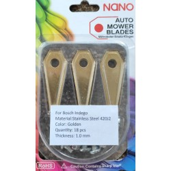 nano 18Stk Titan Ersatzklingen Ersatzmesser für Bosch Indego Modelle